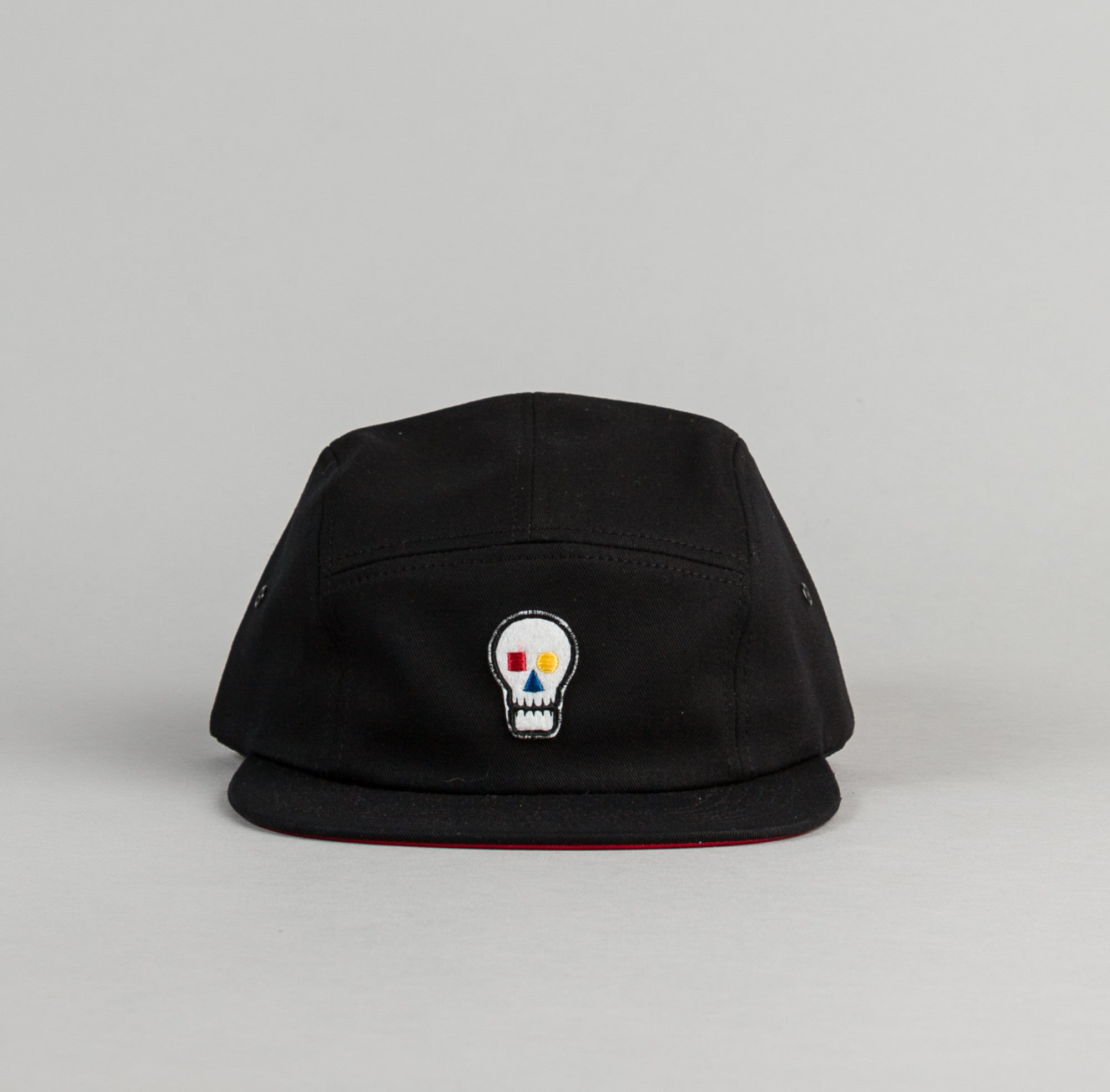 The Quiet Life Bauhaus Skull 5 Panel Cap - Black