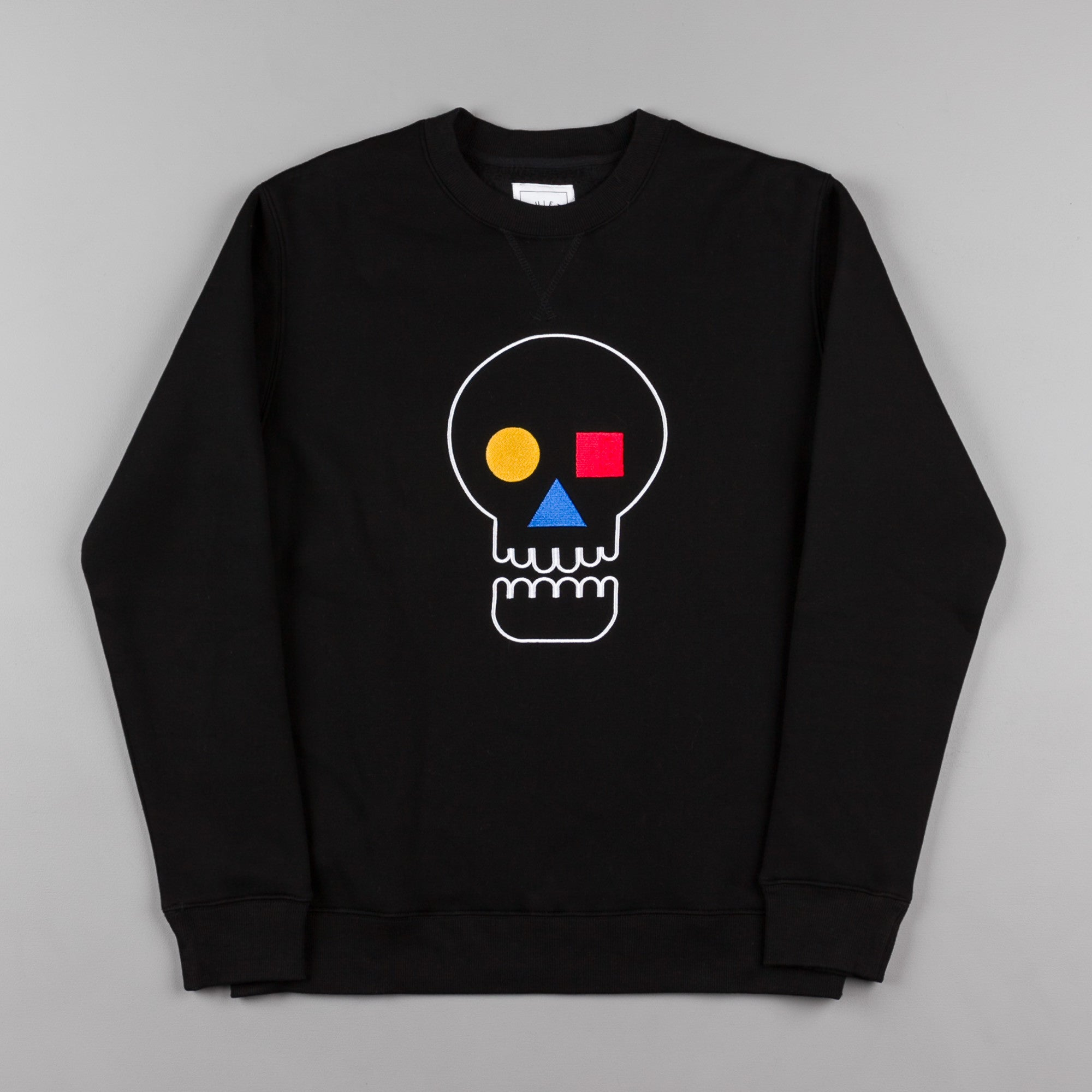 The Quiet Life Bauhaus Skull Crewneck Sweatshirt - Black