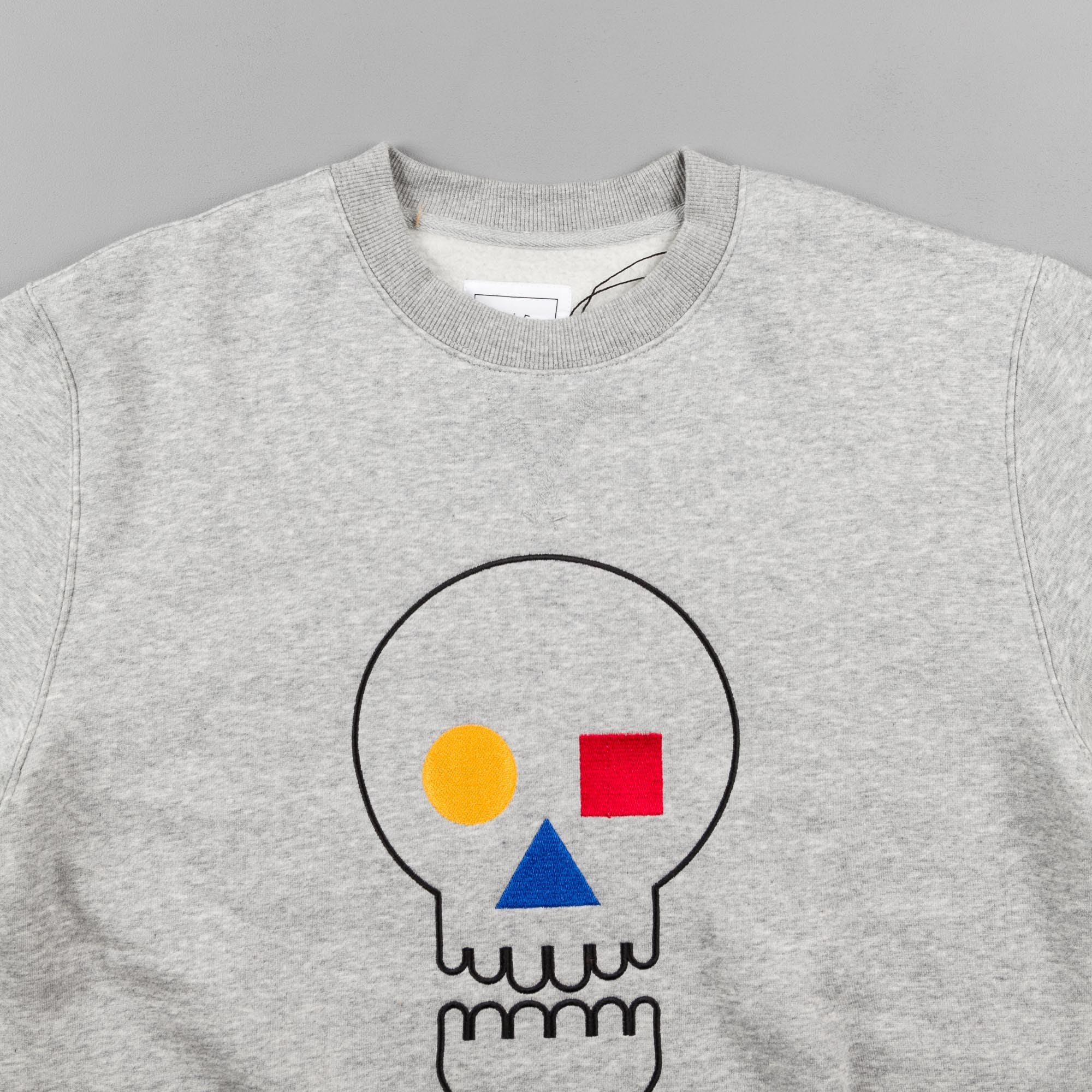 The Quiet Life Bauhaus Skull Crewneck Sweatshirt - Heather Grey