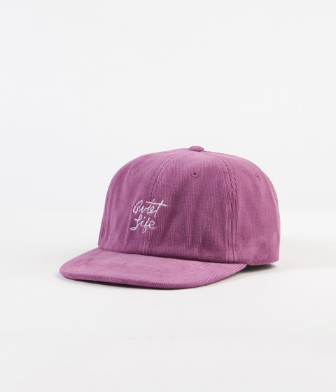 The Quiet Life Beach Cord Polo Cap - Magenta