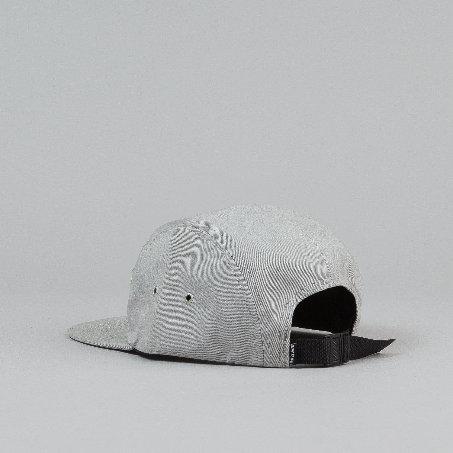 The Quiet Life Big Text 5 Panel Cap - Silver / Lime