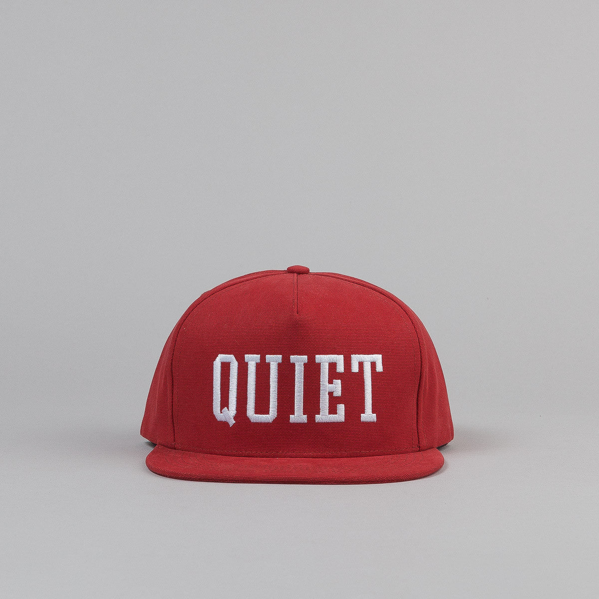 The Quiet Life Big Text Snapback Cap - Rust