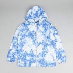 The Quiet Life Bleach Zip Up Hooded Jacket Blue
