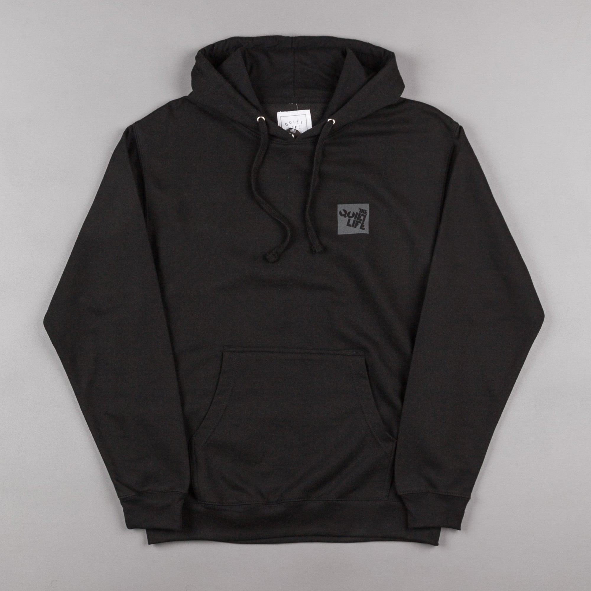 The Quiet Life Block Logo Hooded Sweatshirt - Black