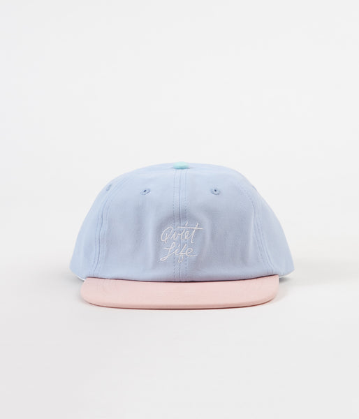 aaa5b01cde7 The Quiet Life Boardwalk Polo Cap - Periwinkle   Peach