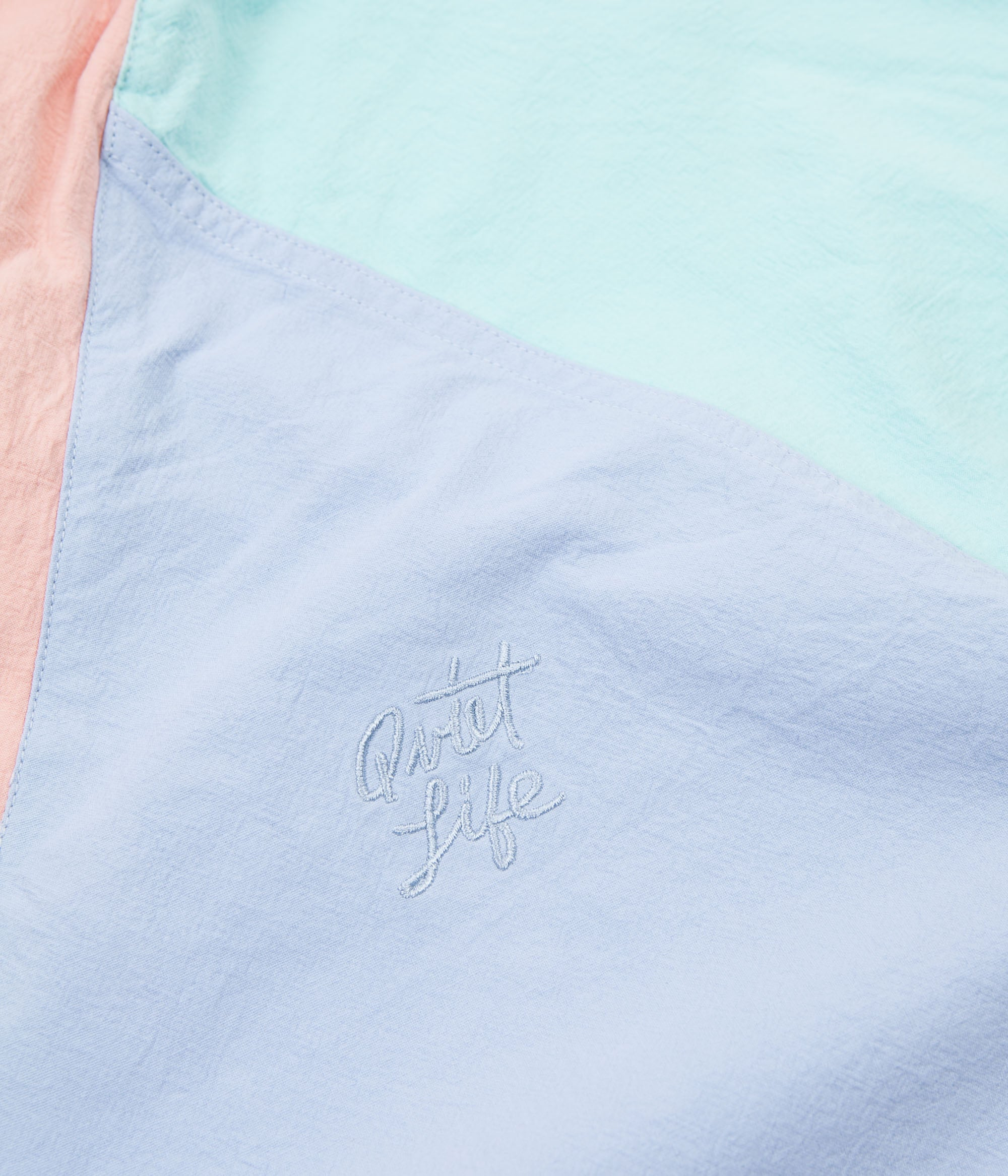 The Quiet Life Boardwalk Windy Pullover Jacket - Periwinkle / Mint / Peach
