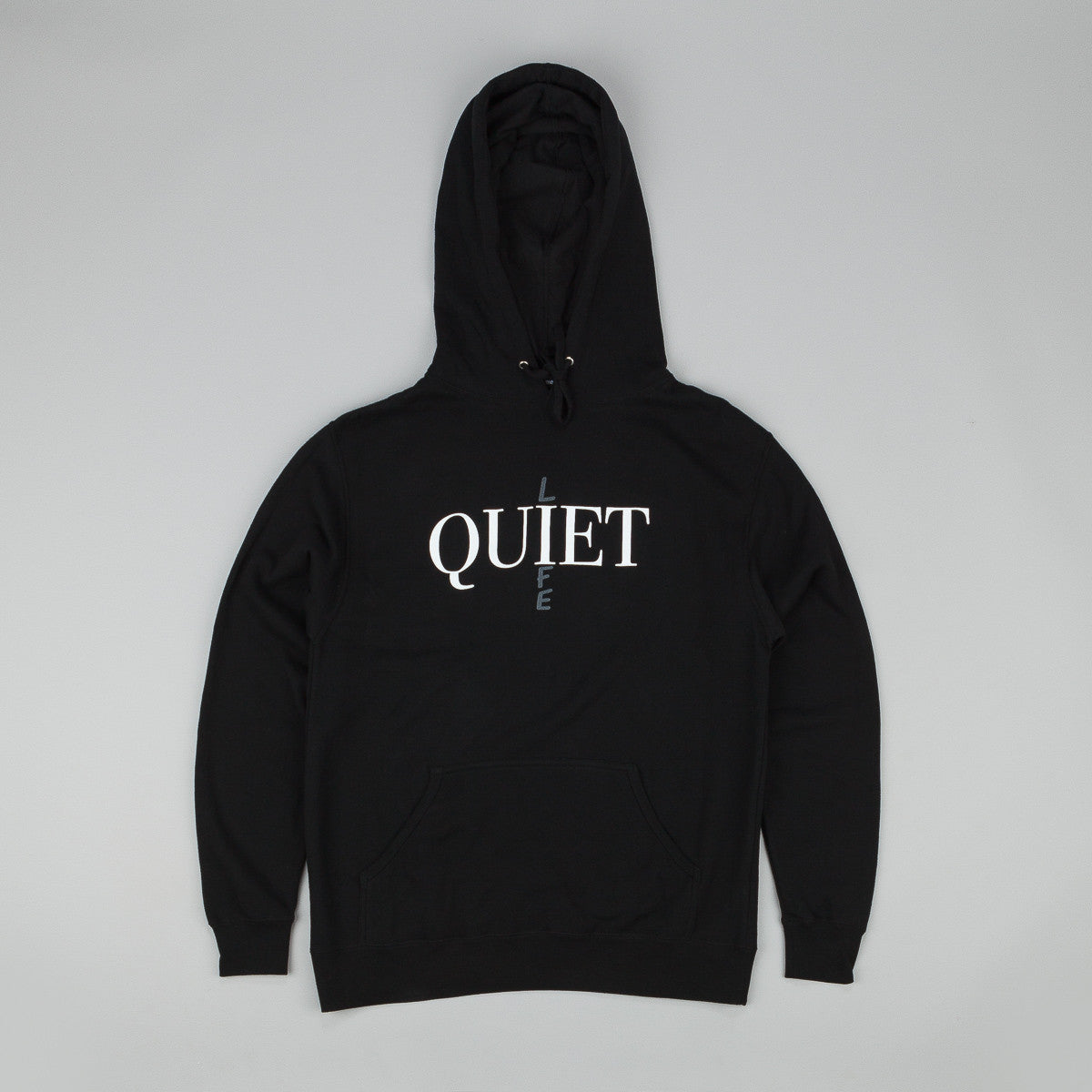 The Quiet Life Bodoni Hooded Sweatshirt - Black