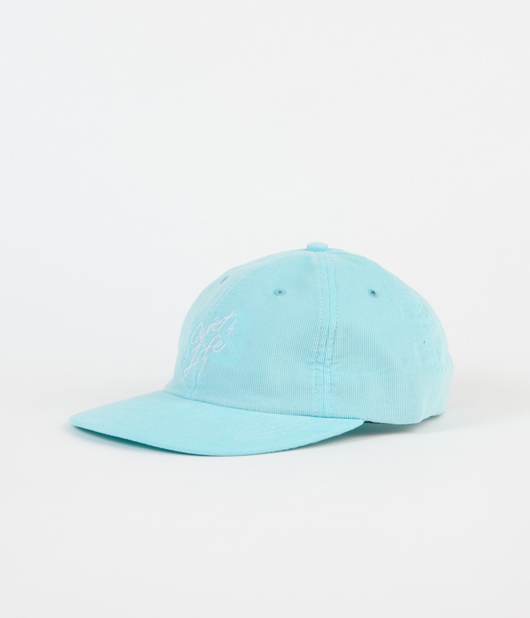 The Quiet Life Bolt Cord Polo Cap - Sky