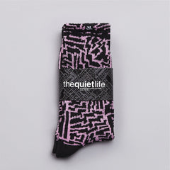The Quiet life Bolts Socks Black / Pink