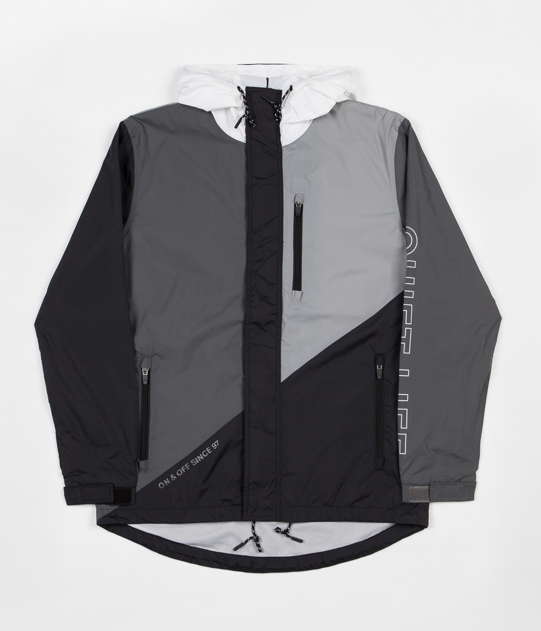 The Quiet Life Boundary Windbreaker Jacket - Black / Grey