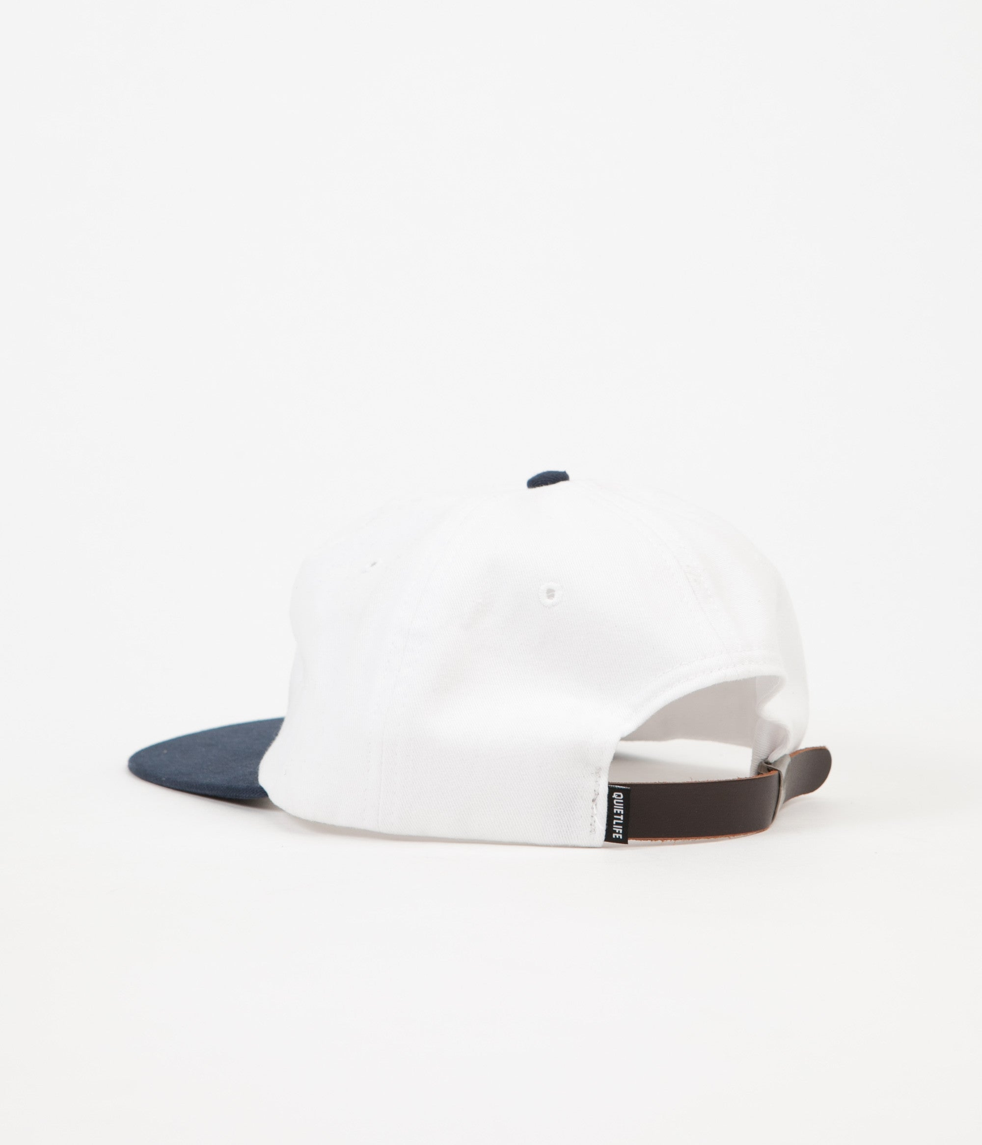 The Quiet Life Camera Club Polo Cap - White / Navy