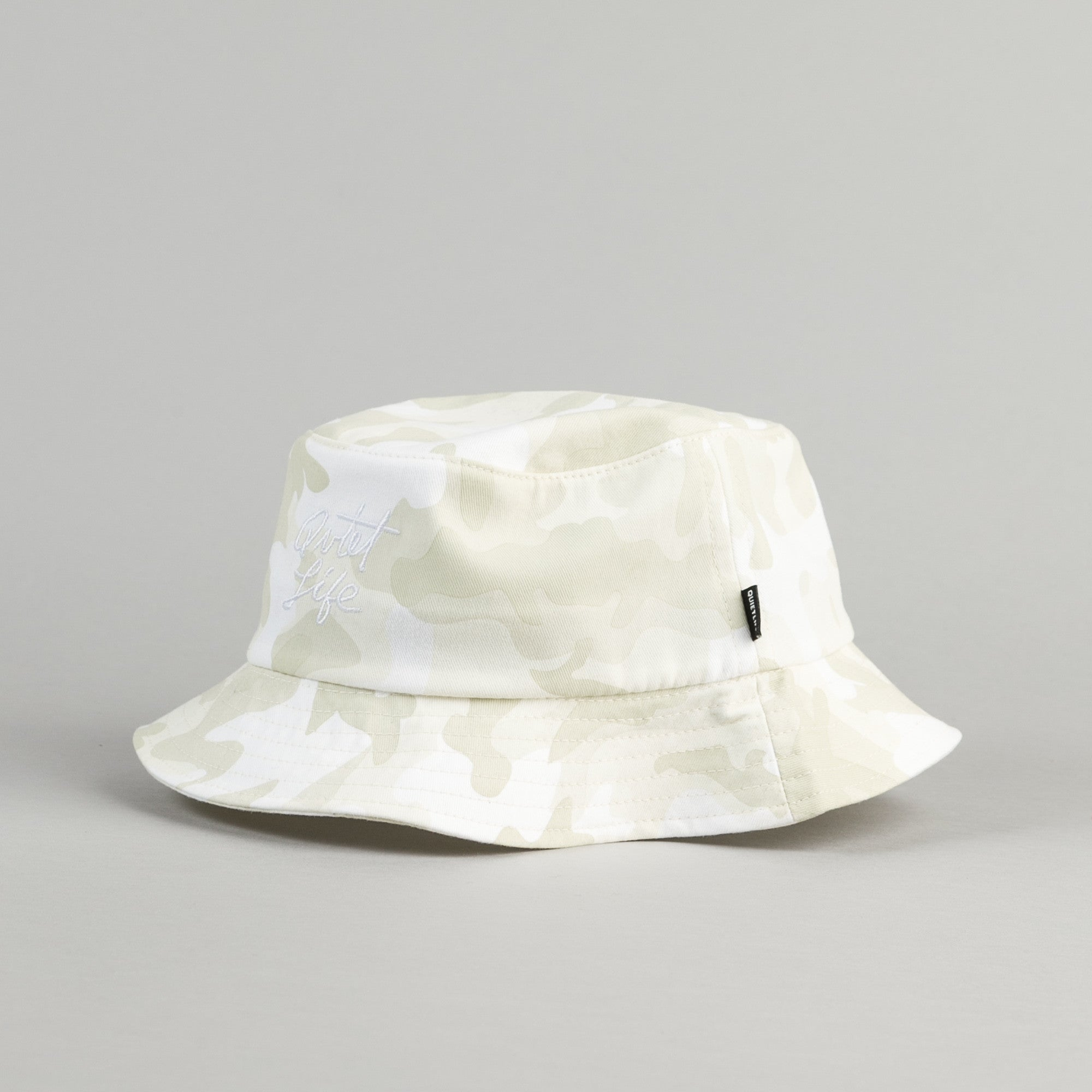 The Quiet Life Camo Bucket Hat - White Camo