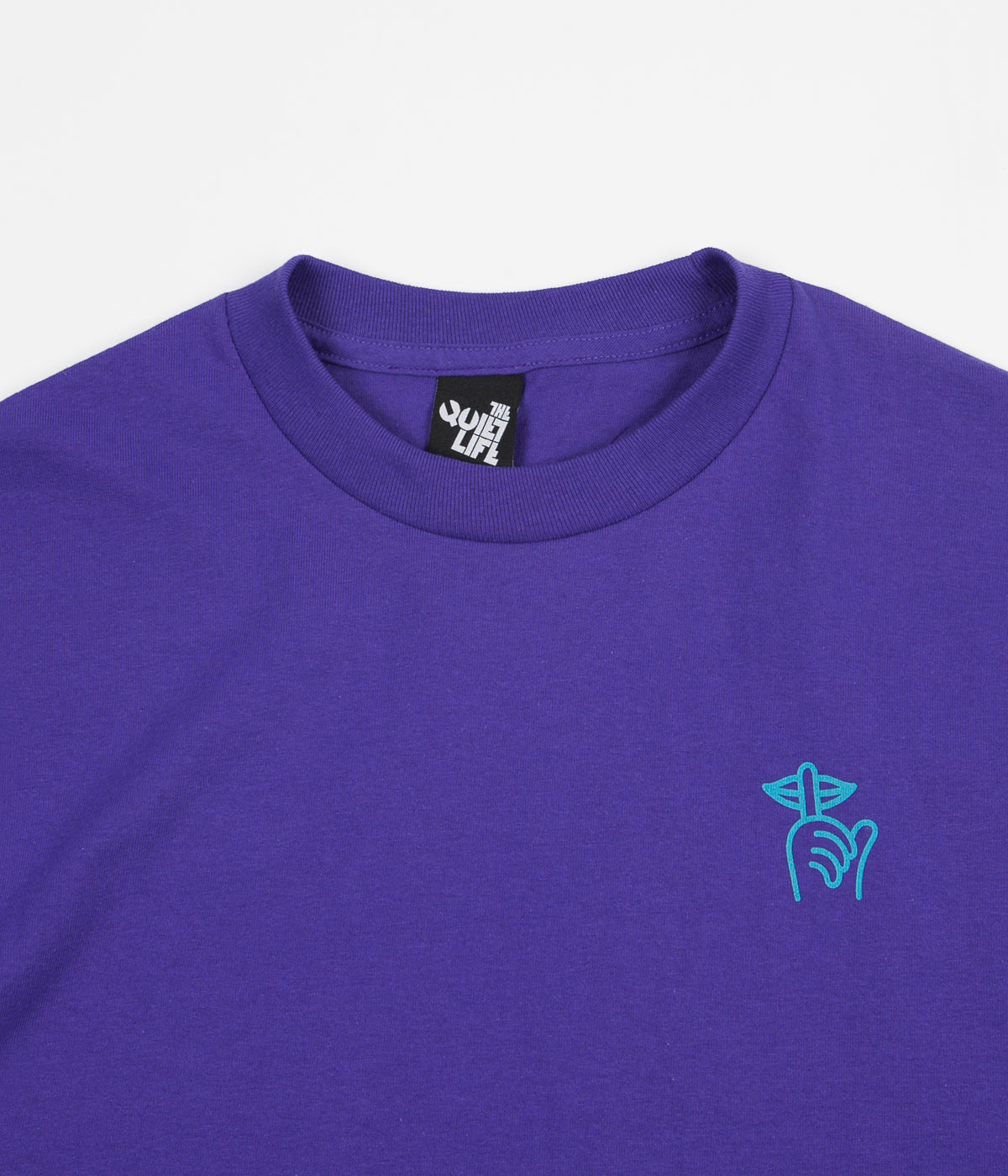 The Quiet Life Checker T-Shirt - Purple