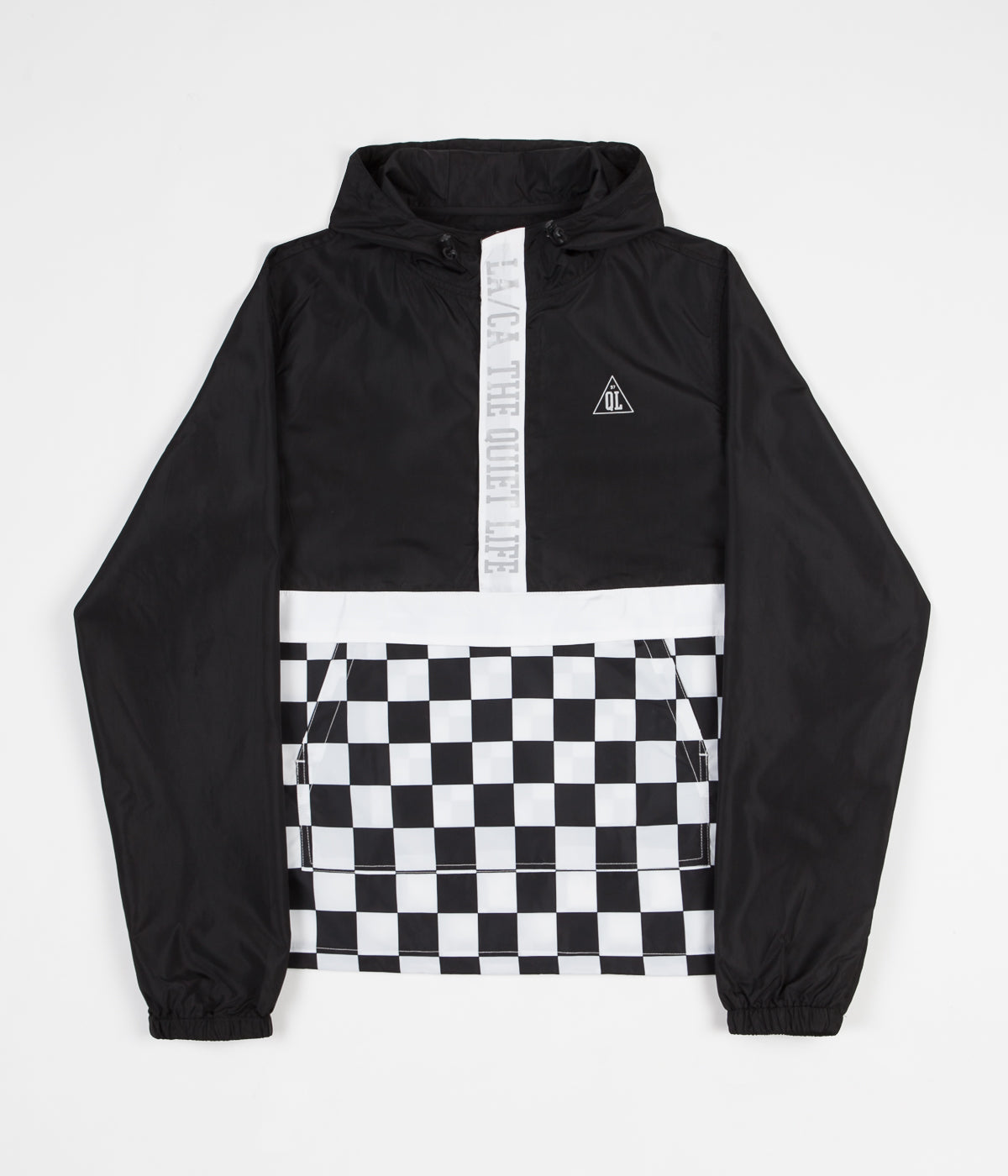 The Quiet Life City Limits Checker Pullover Jacket - Black Checker