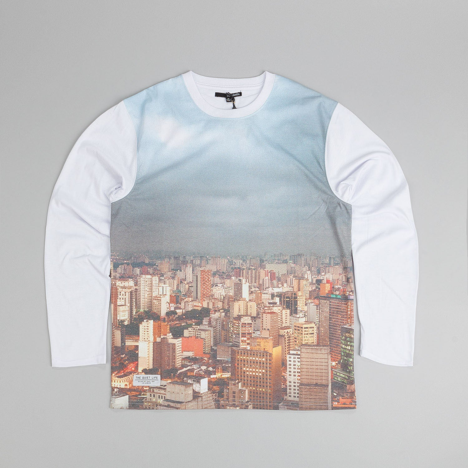 The Quiet Life City Photo L/S T Shirt White