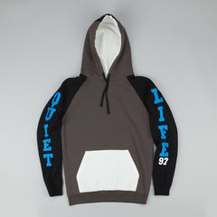 The Quiet Life Climber Hooded Sweatshirt - Charcoal / White / Black