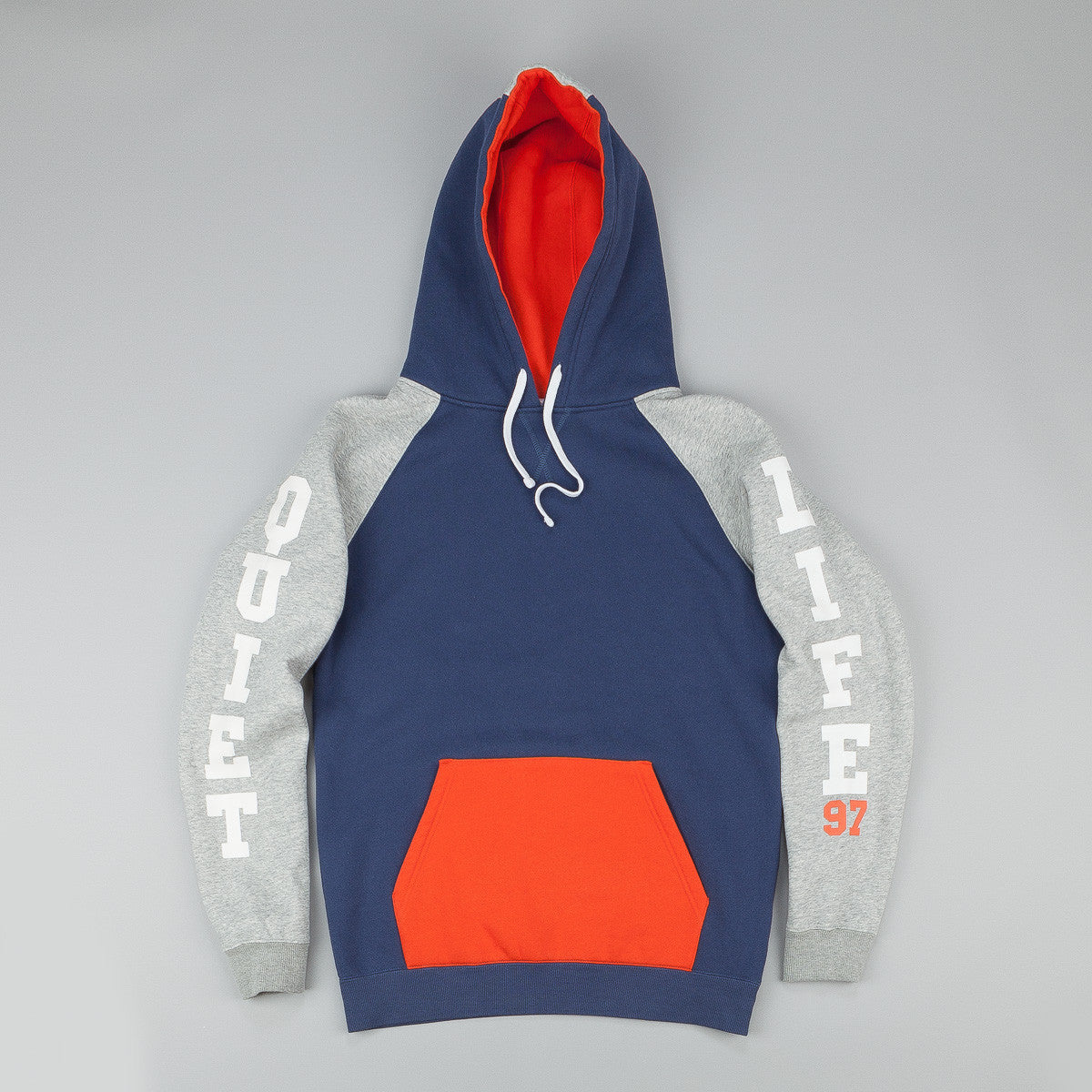 The Quiet Life Climber Hooded Sweatshirt - Navy / Orange / Heather