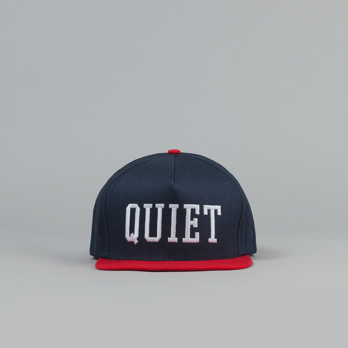 The Quiet Life College Dart Snapback Cap - Navy Red