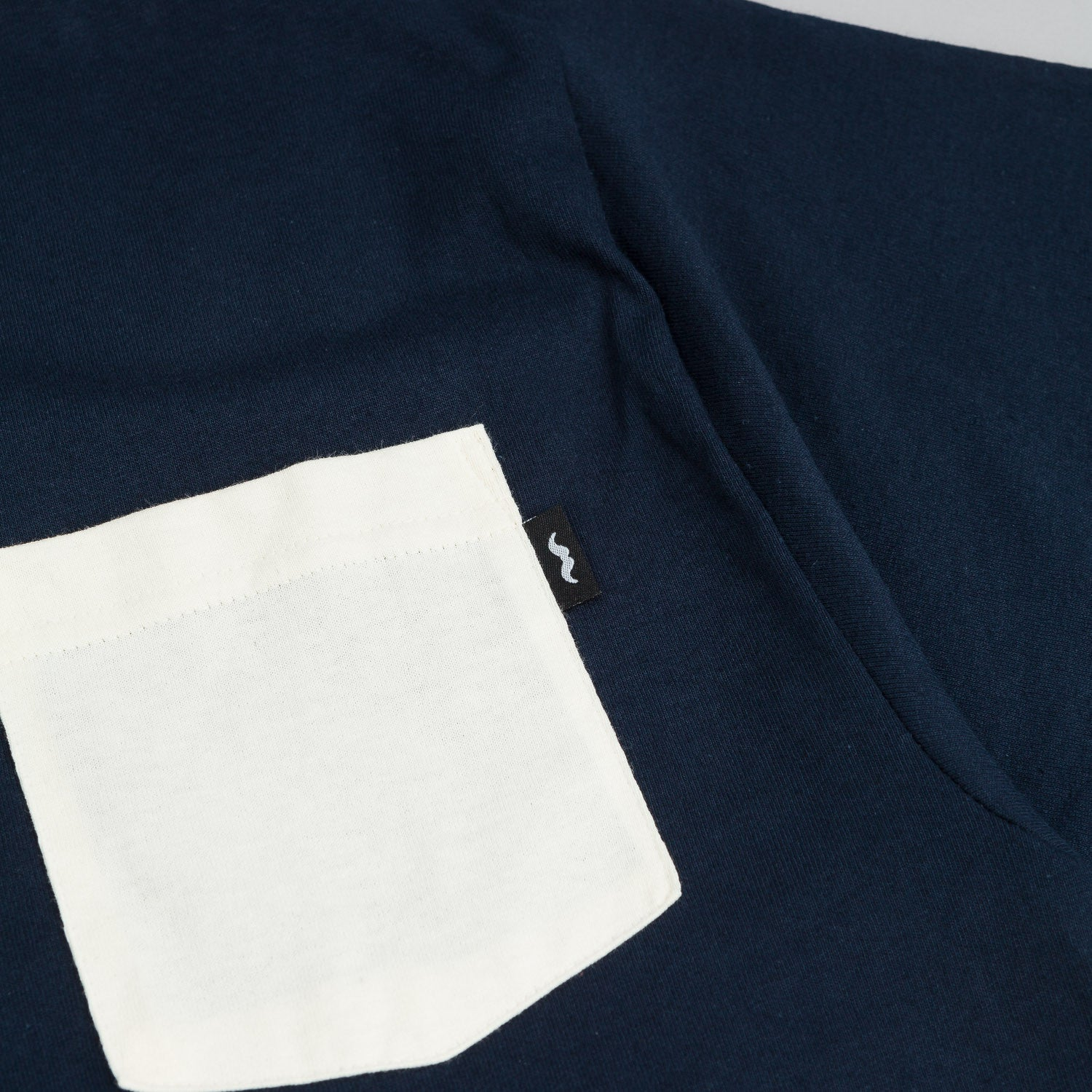 The Quiet Life Contrast Pocket T-Shirt -  Navy / Creme