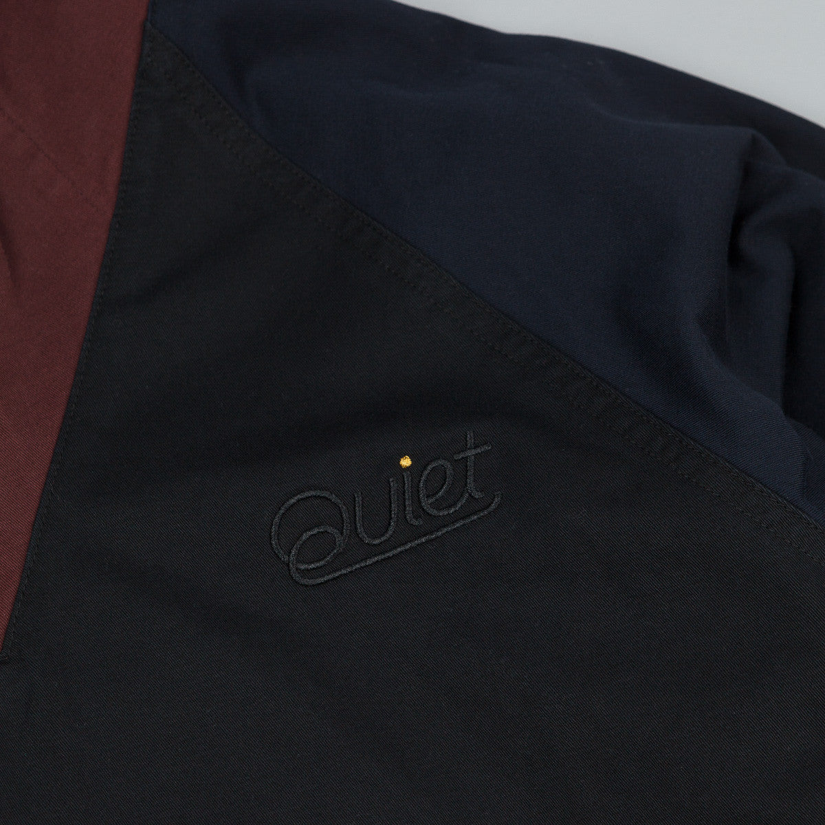 The Quiet Life Contrast Windy Pullover Jacket - Black /  Maroon / Navy