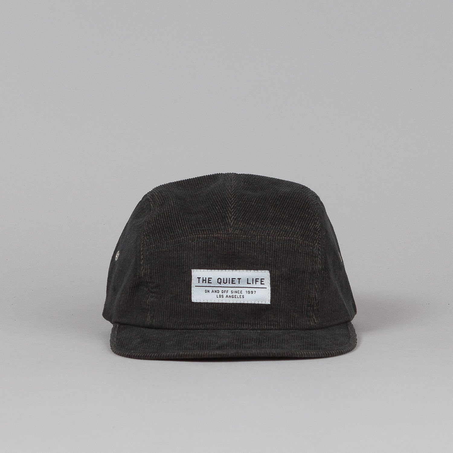 The Quiet Life Cord 5 Panel Cap - Grey