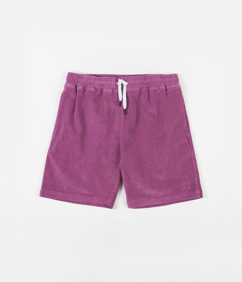 The Quiet Life Cord Beach Shorts - Magenta