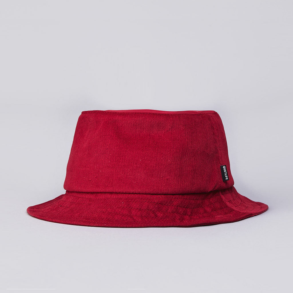 The Quiet Life Cord Bucket Hat Maroon