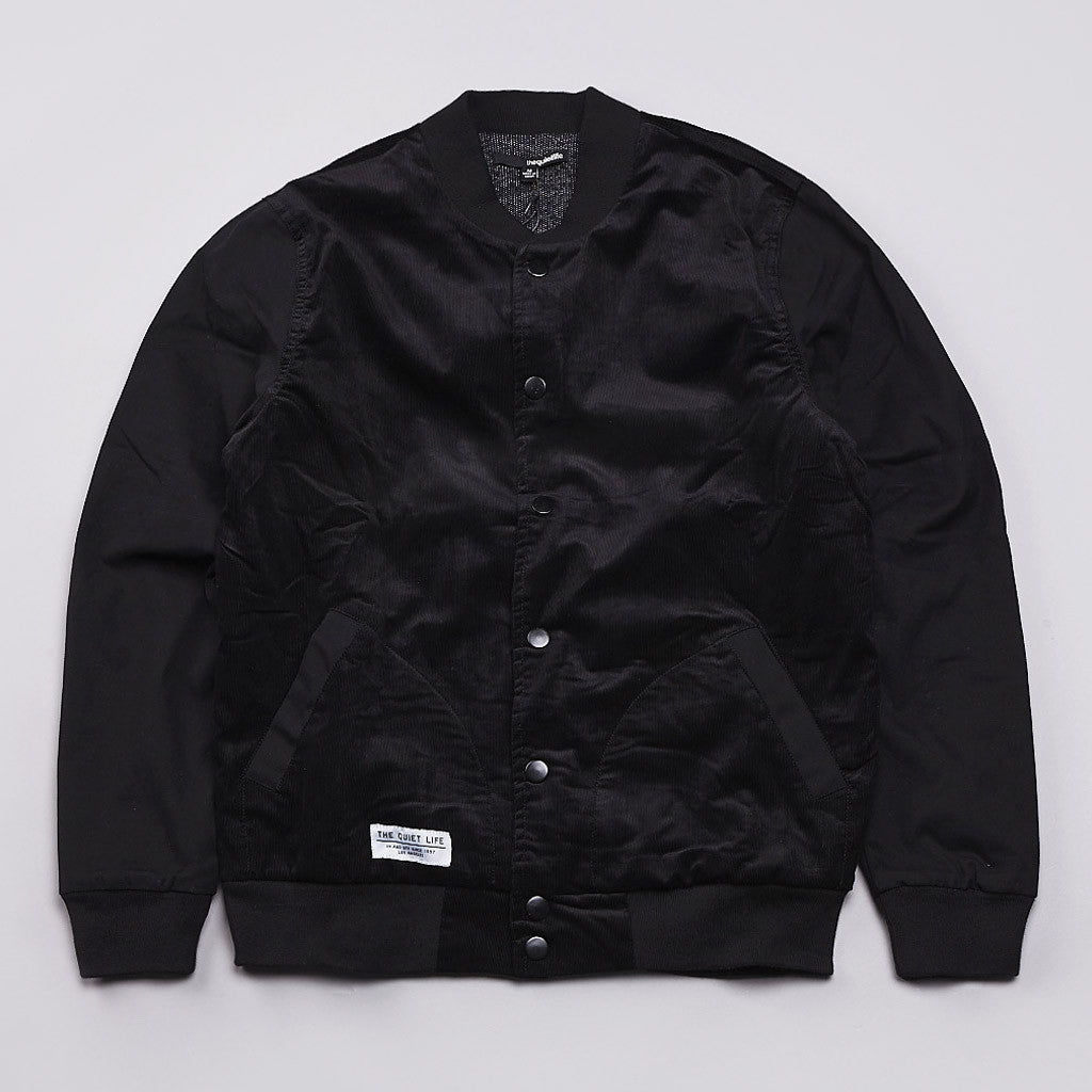 The Quiet Life Cord Coach Jacket Black Corduroy