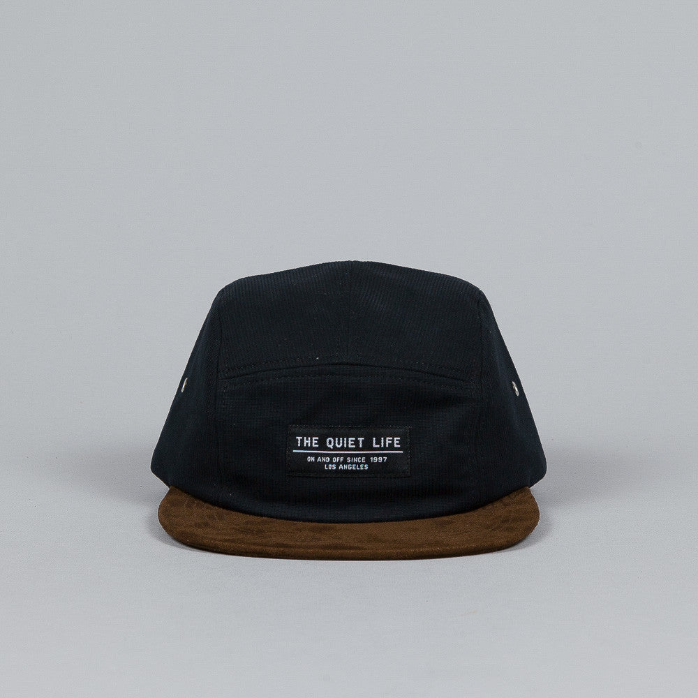 The Quiet Life Cord Combo 5 Panel Cap Black / Brown