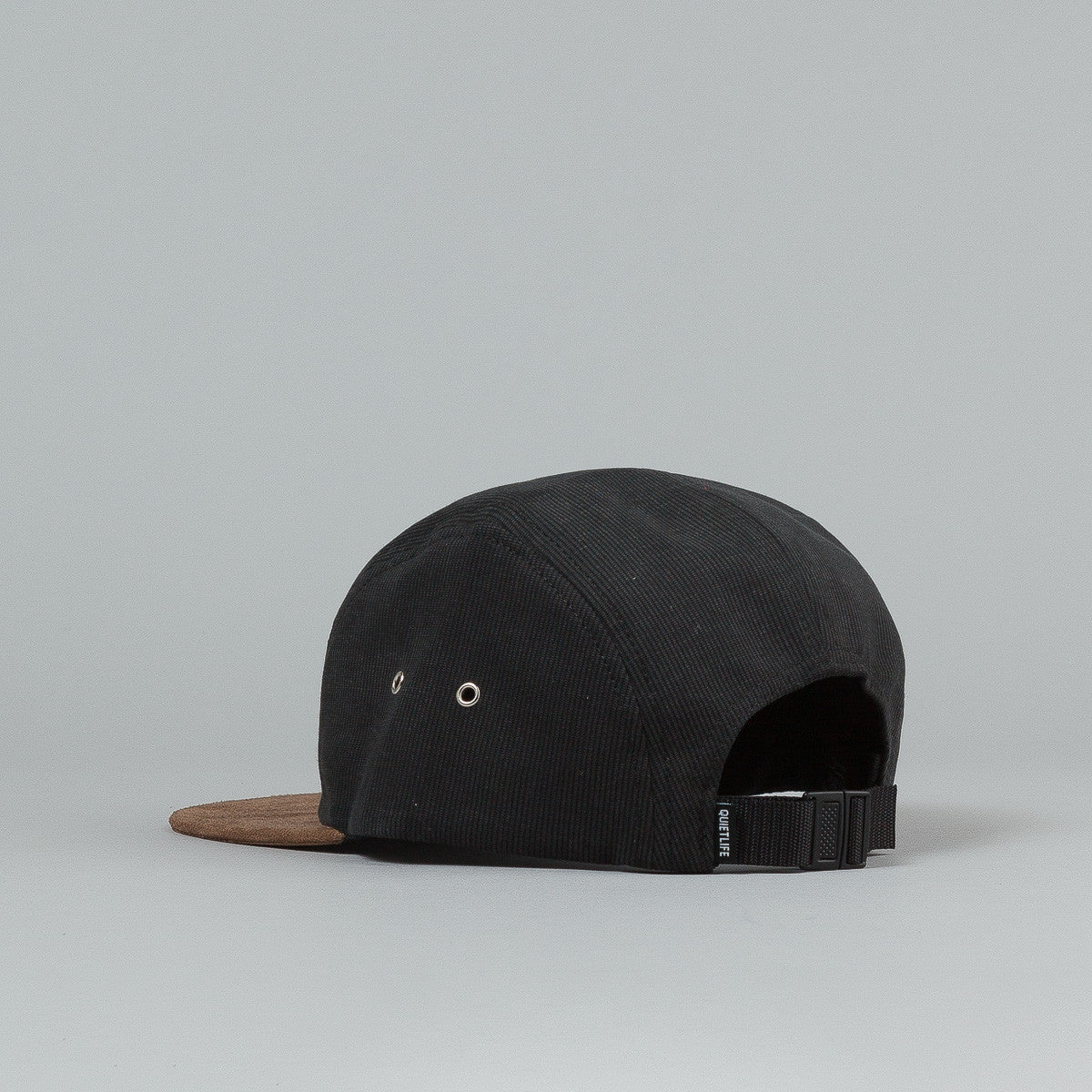 The Quiet Life Cord Combo 5 Panel Cap - Black / Mocha