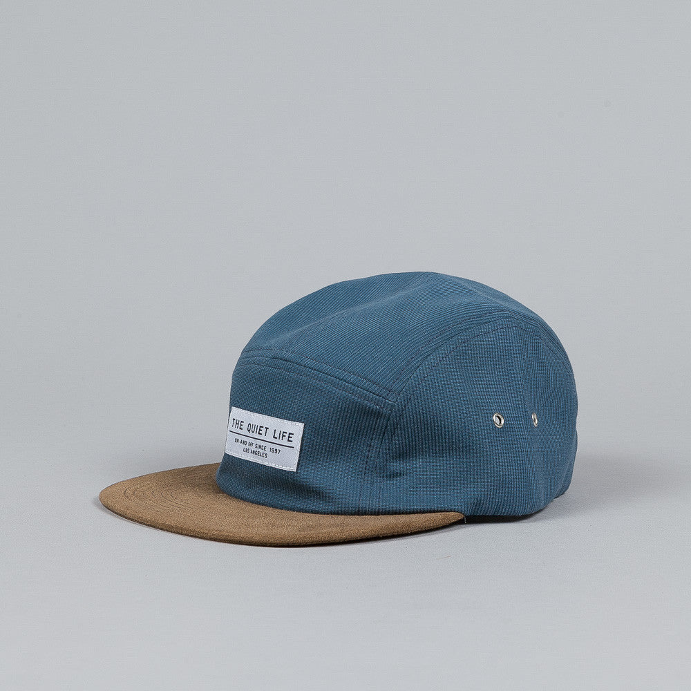 The Quiet Life Cord Combo 5 Panel Cap Blue / Tan