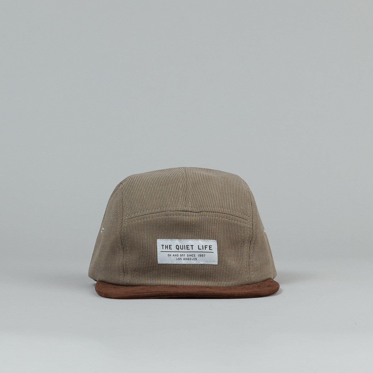 The Quiet Life Cord Combo 5 Panel Cap - Moss / Chocolate