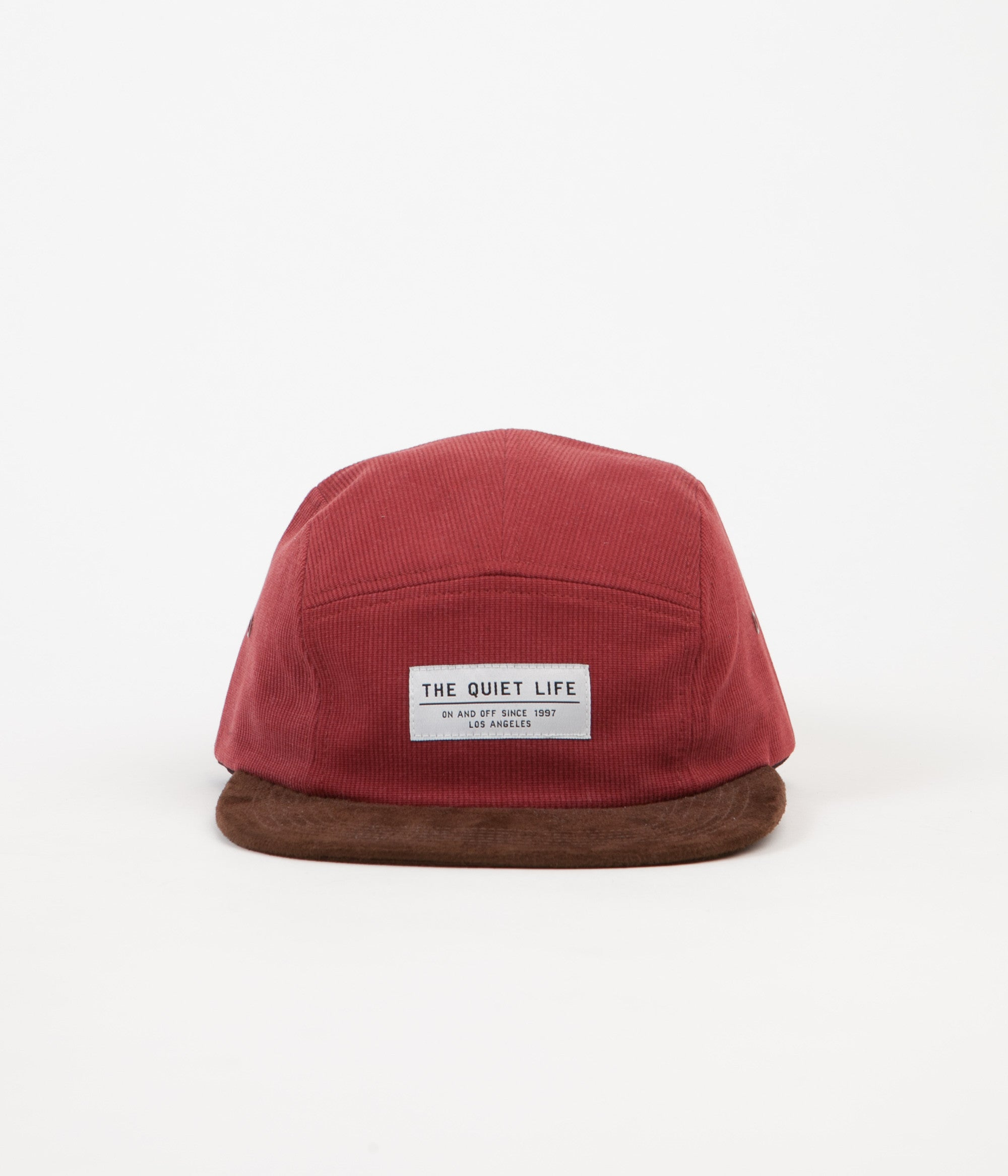 The Quiet Life Cord Combo 5 Panel Cap - Red / Chocolate
