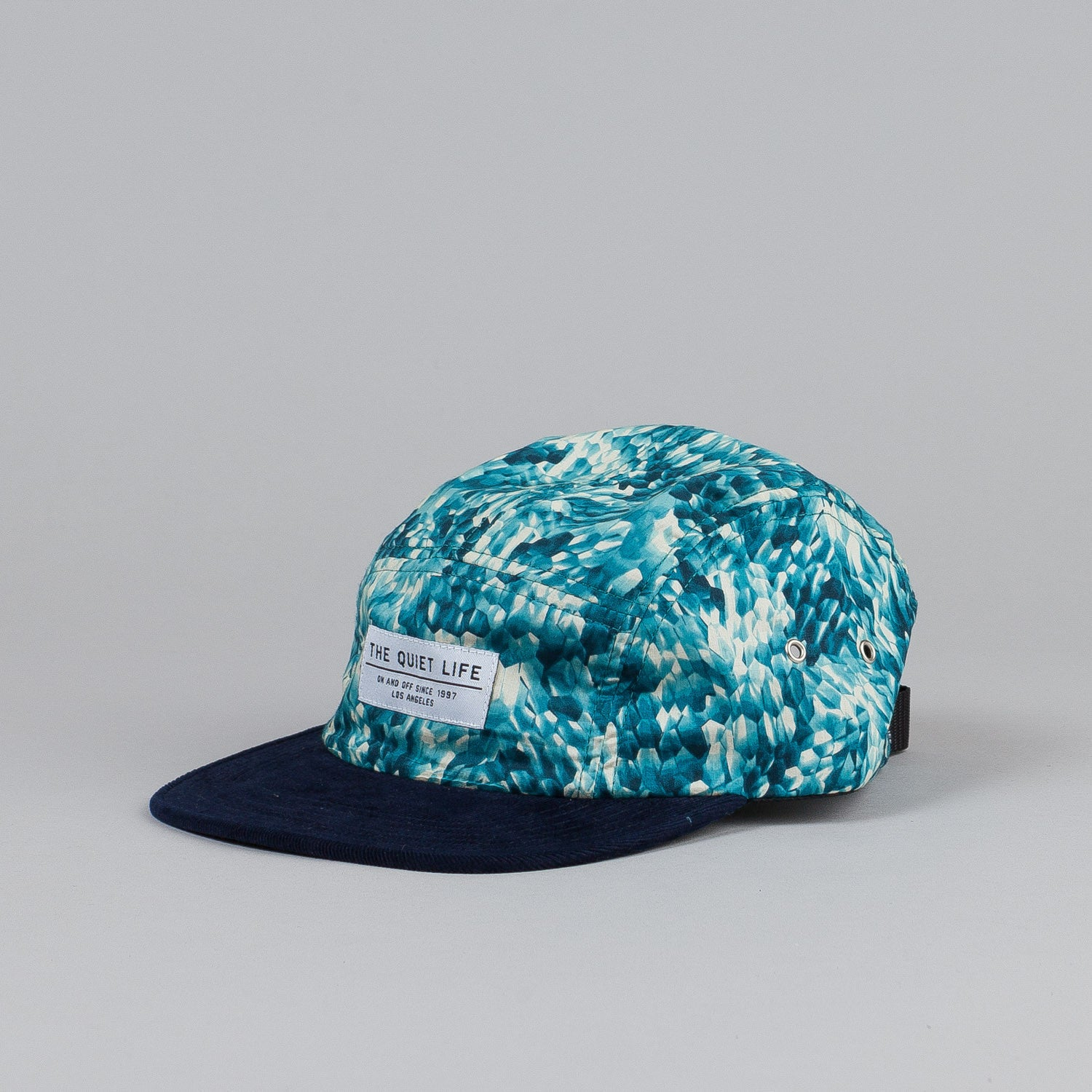The Quiet Life Crystal 5 Panel Cap Blue Cord Bill