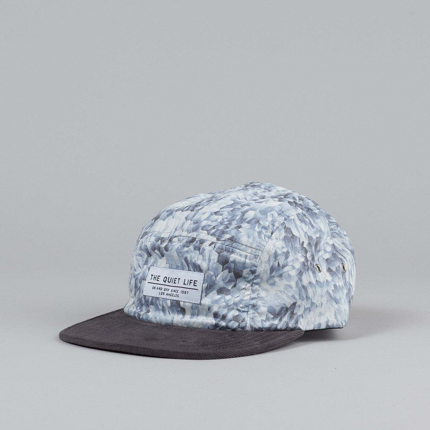 The Quiet Life Crystal 5 Panel Cap Grey Cord Bill