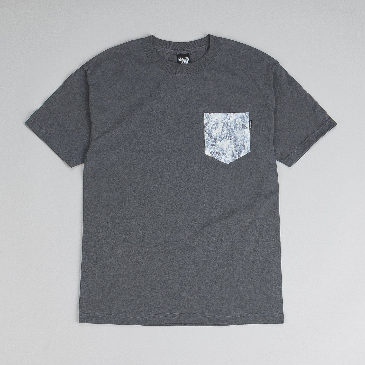 The Quiet Life Crystal Pocket T Shirt Charcoal
