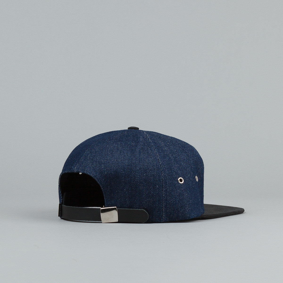 The Quiet Life Denim Cord Combo Hybrid Cap - Dark Blue Denim