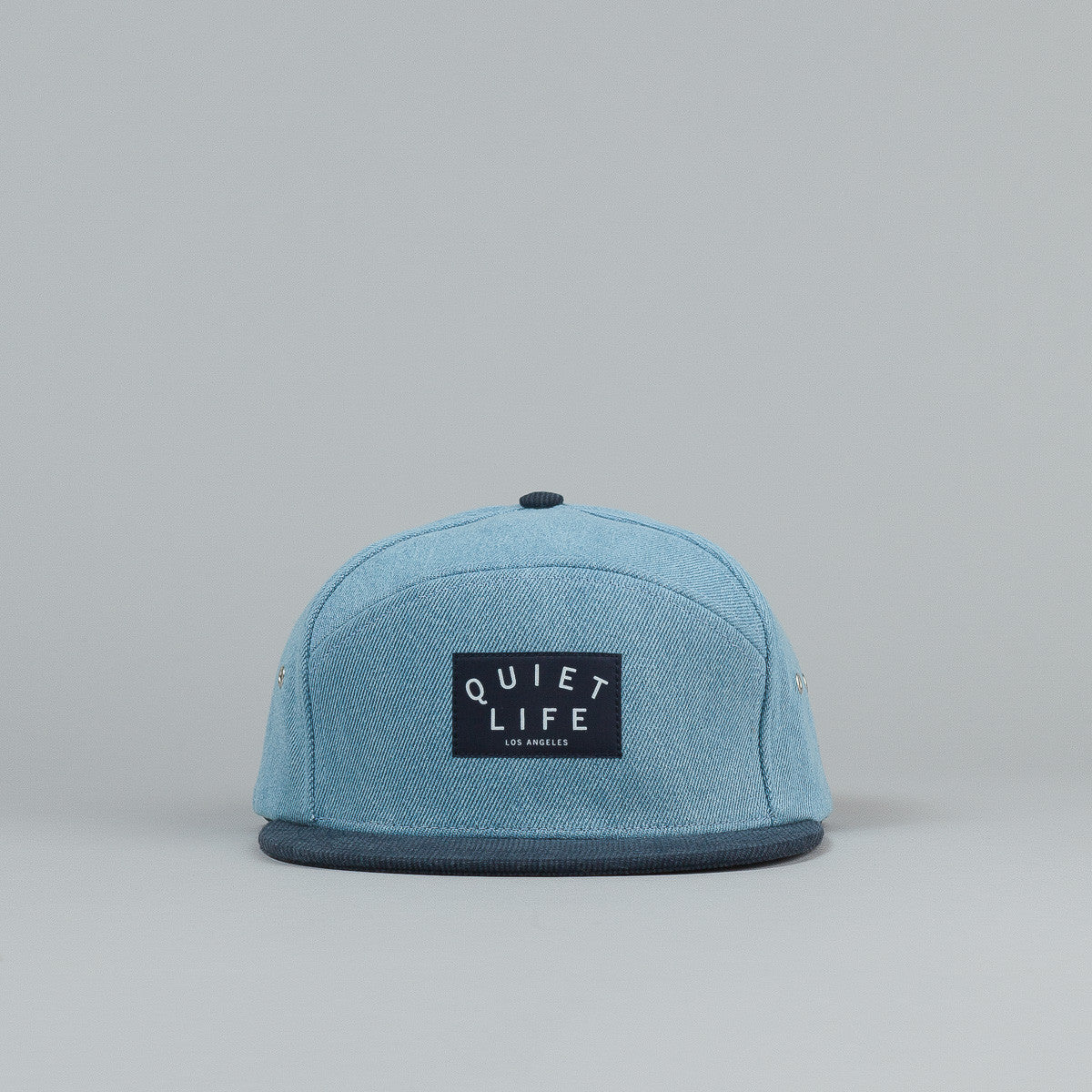 The Quiet Life Denim Cord Combo Hybrid Cap - Light Blue Denim