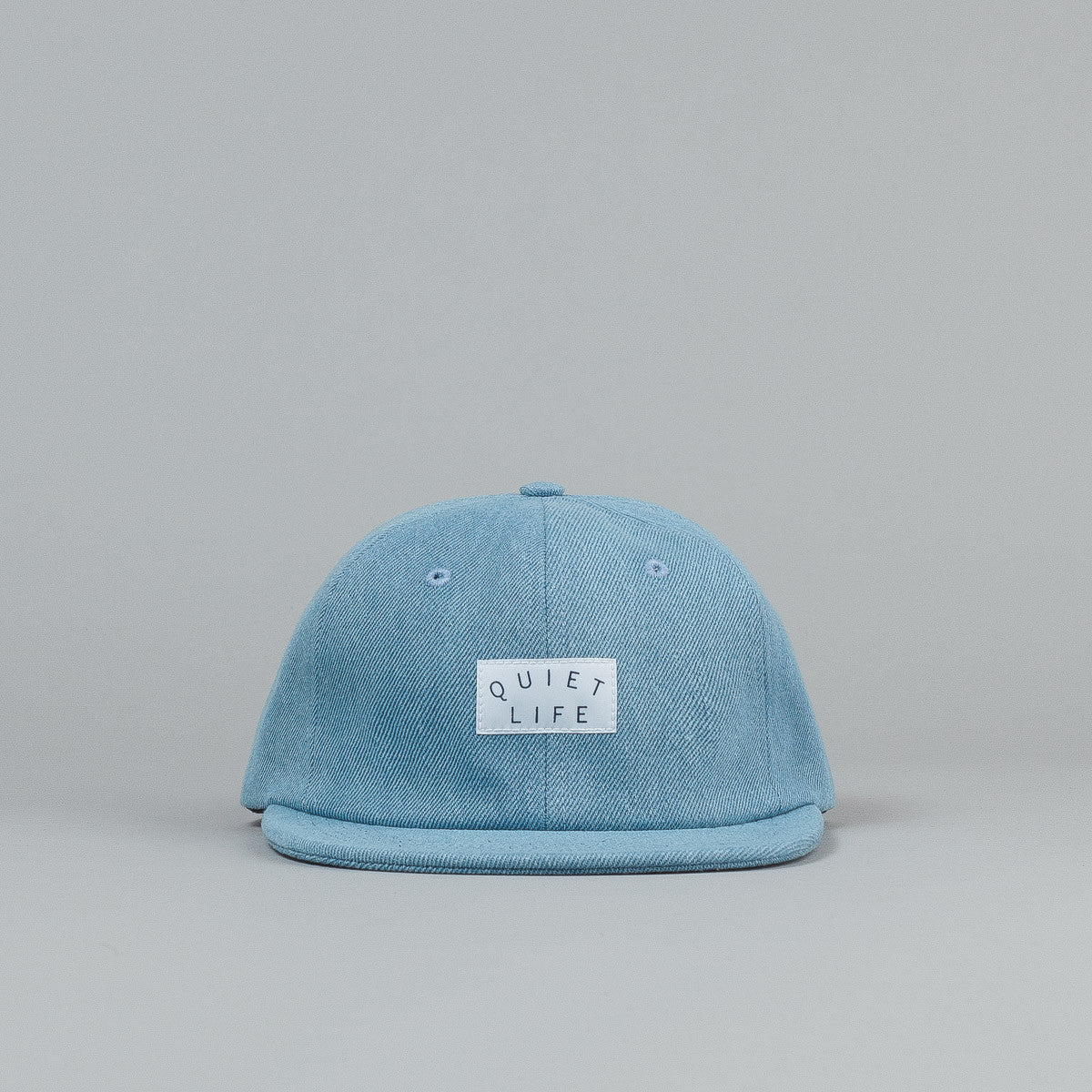 The Quiet Life Denim Polo Cap - Light Blue Denim