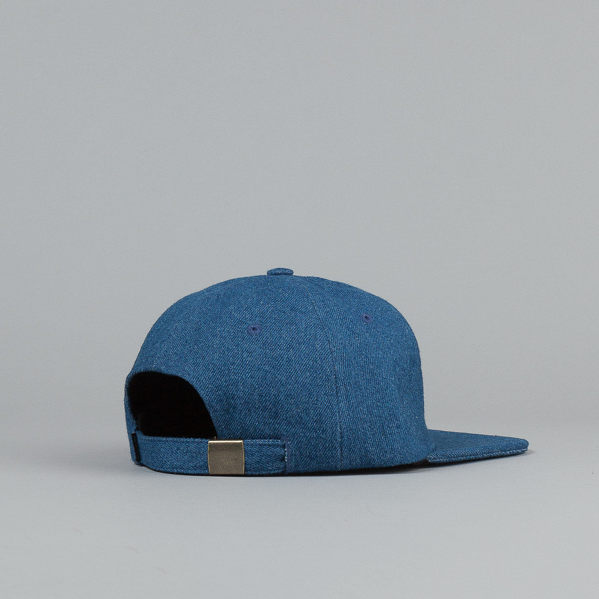 The Quiet Life Denim Polo Cap - Medium Blue Denim