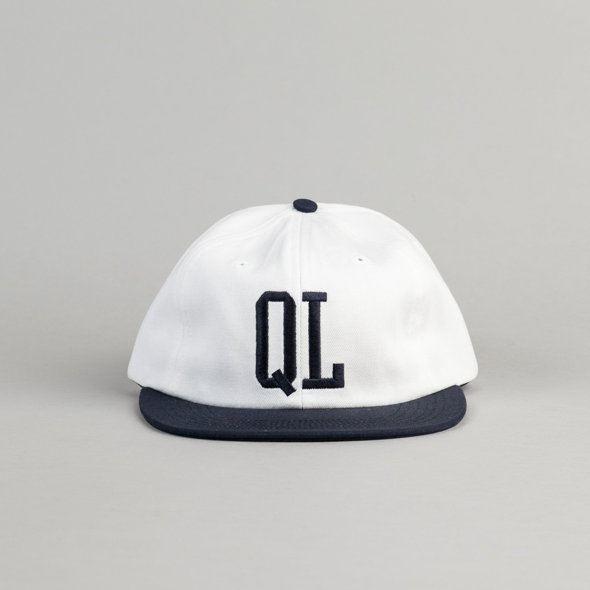 The Quiet Life Dugout Polo Cap - White / Navy