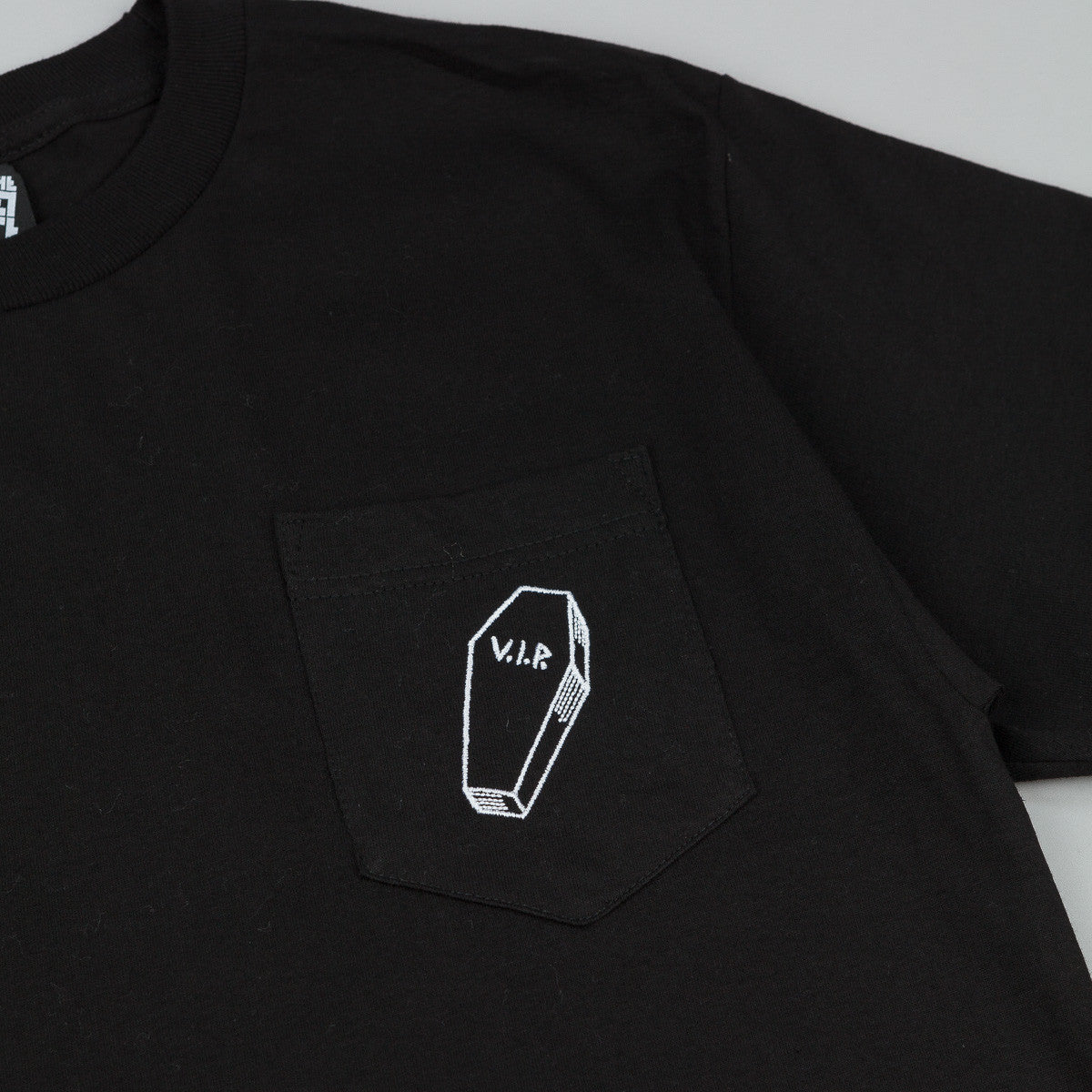 The Quiet Life VIP Embroidered Pocket T-Shirt - Black
