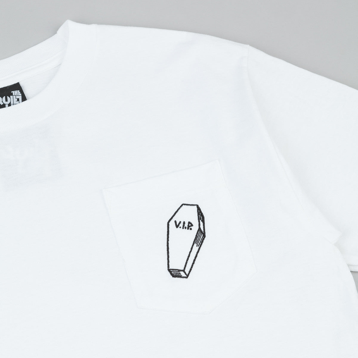 The Quiet Life VIP Embroidered Pocket T-Shirt - White