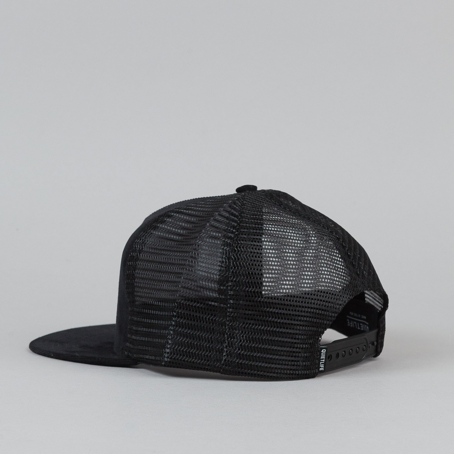 The Quiet Life Explorer Trucker Cap - Black / Black