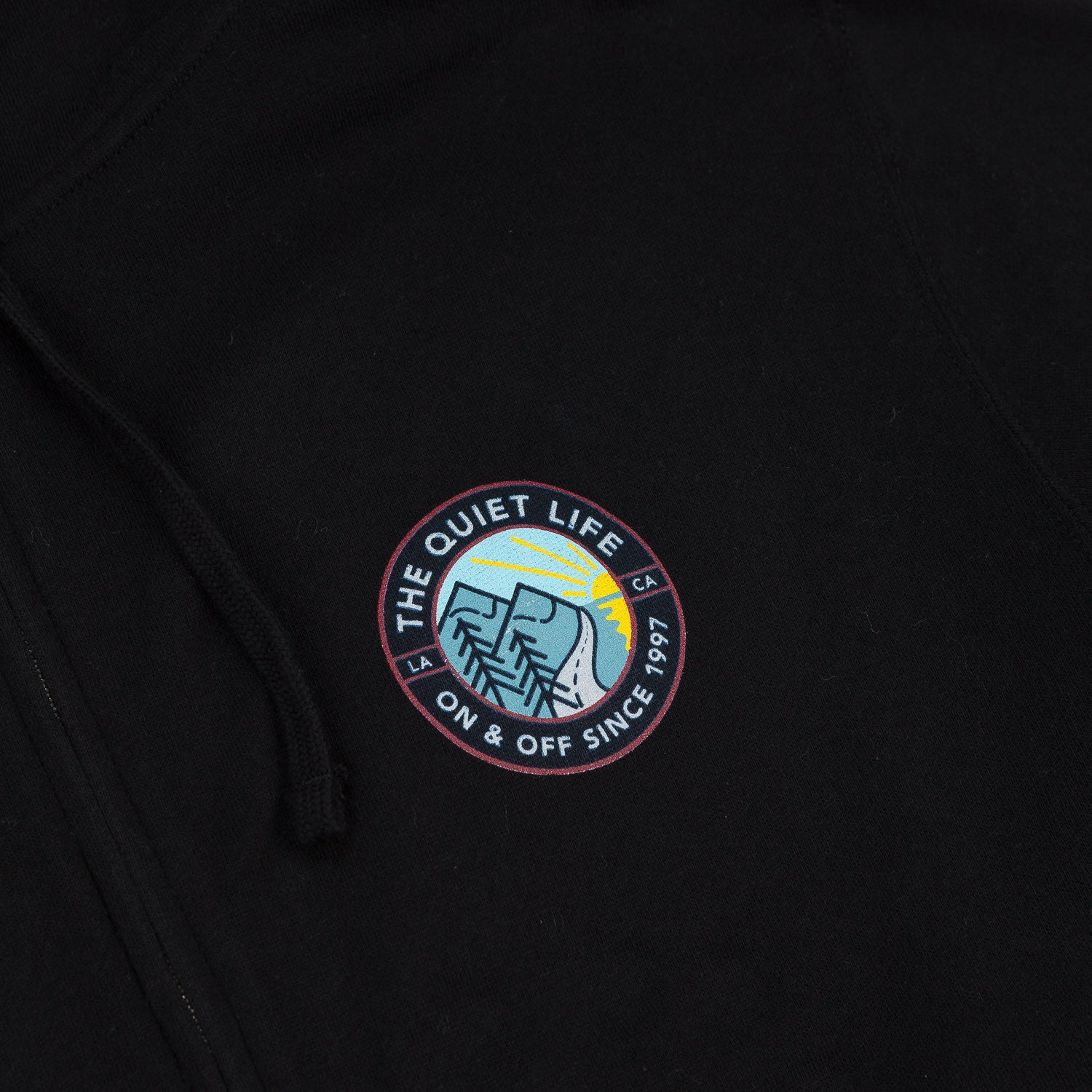 The Quiet Life Explorer Zip Hooded Sweatshirt - Black