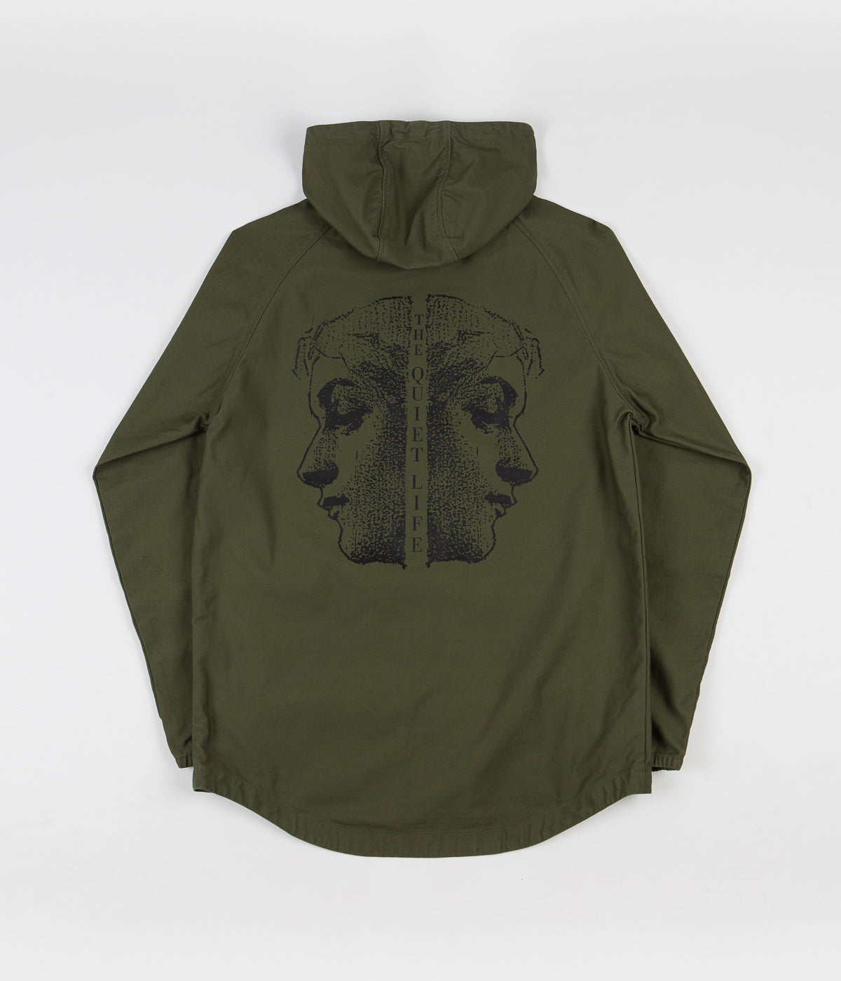 The Quiet Life Face Off Hooded Jacket - Army
