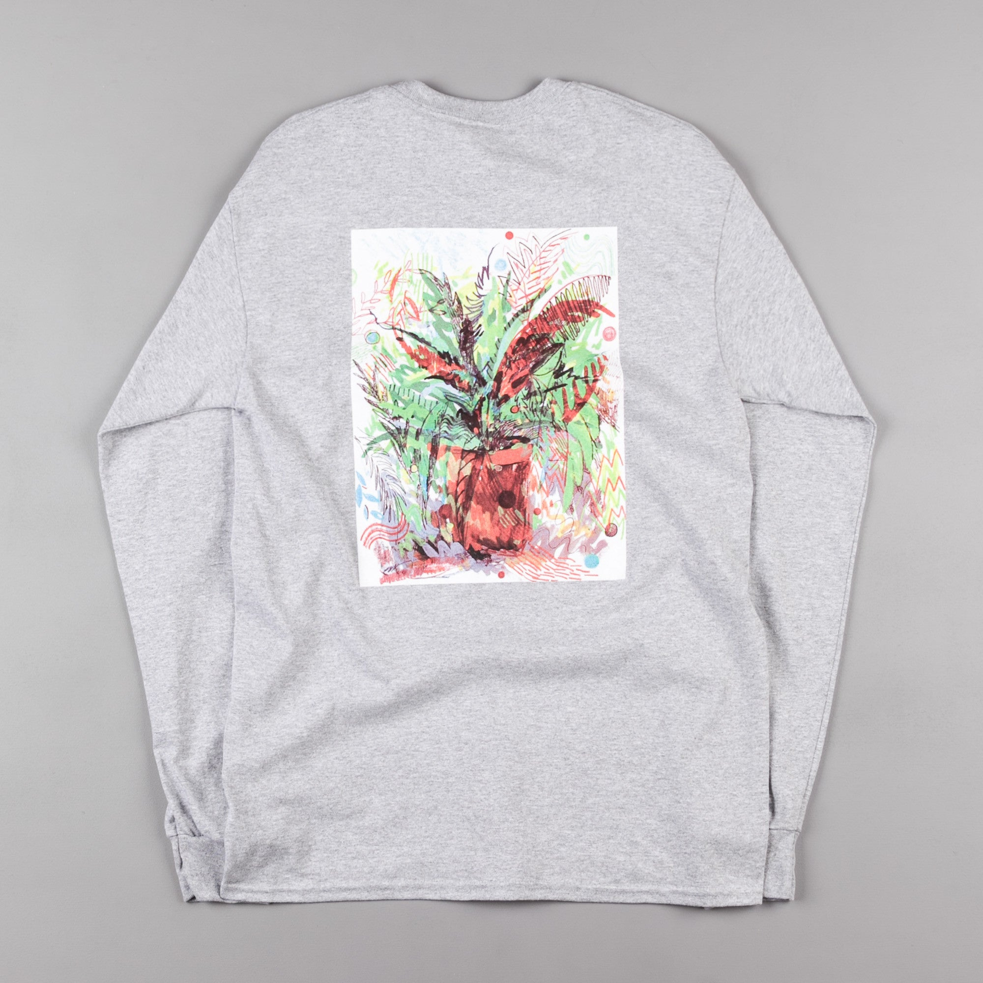 The Quiet Life Fauna Long Sleeve T-Shirt - Heather Grey