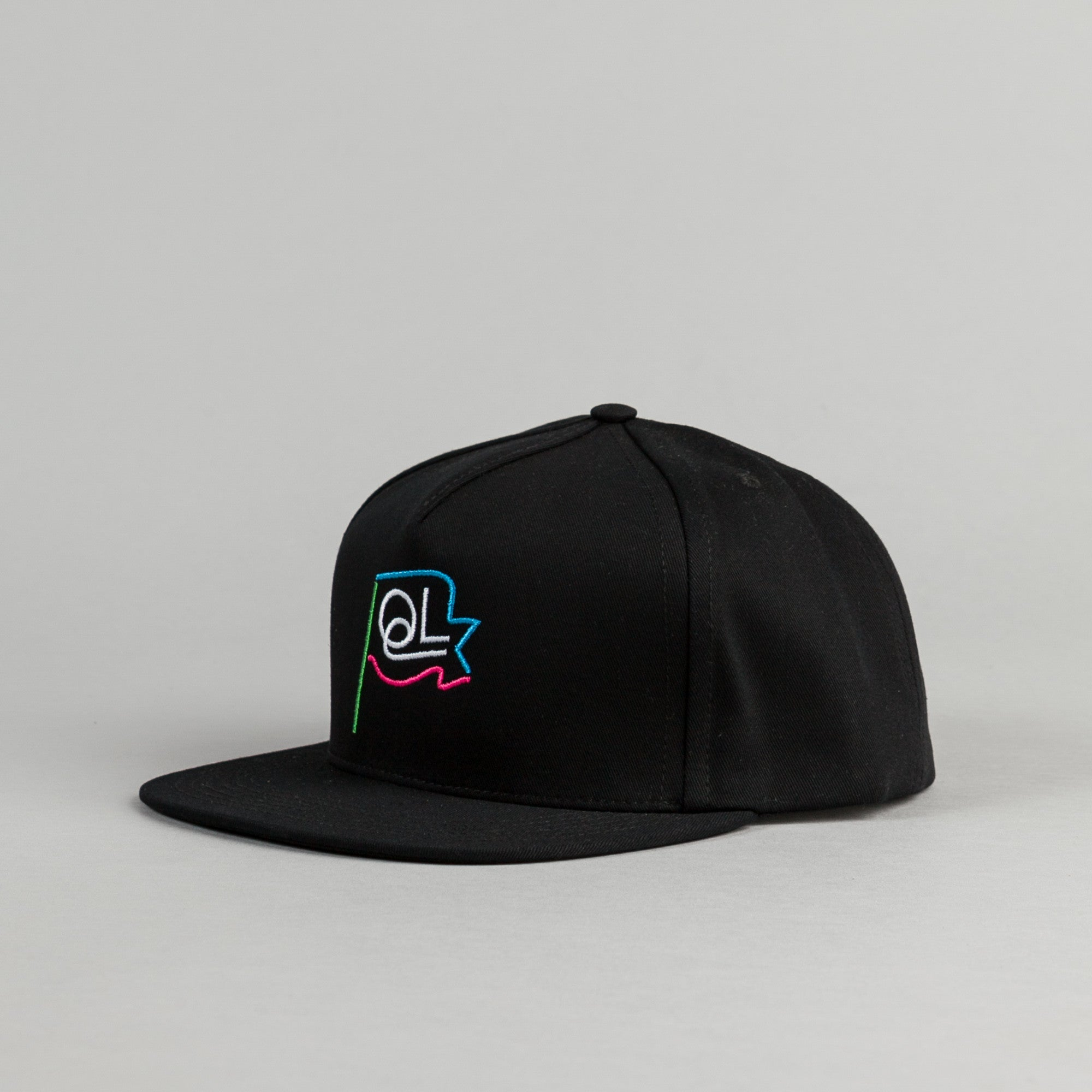 The Quiet Life Flagpole Snapback - Black