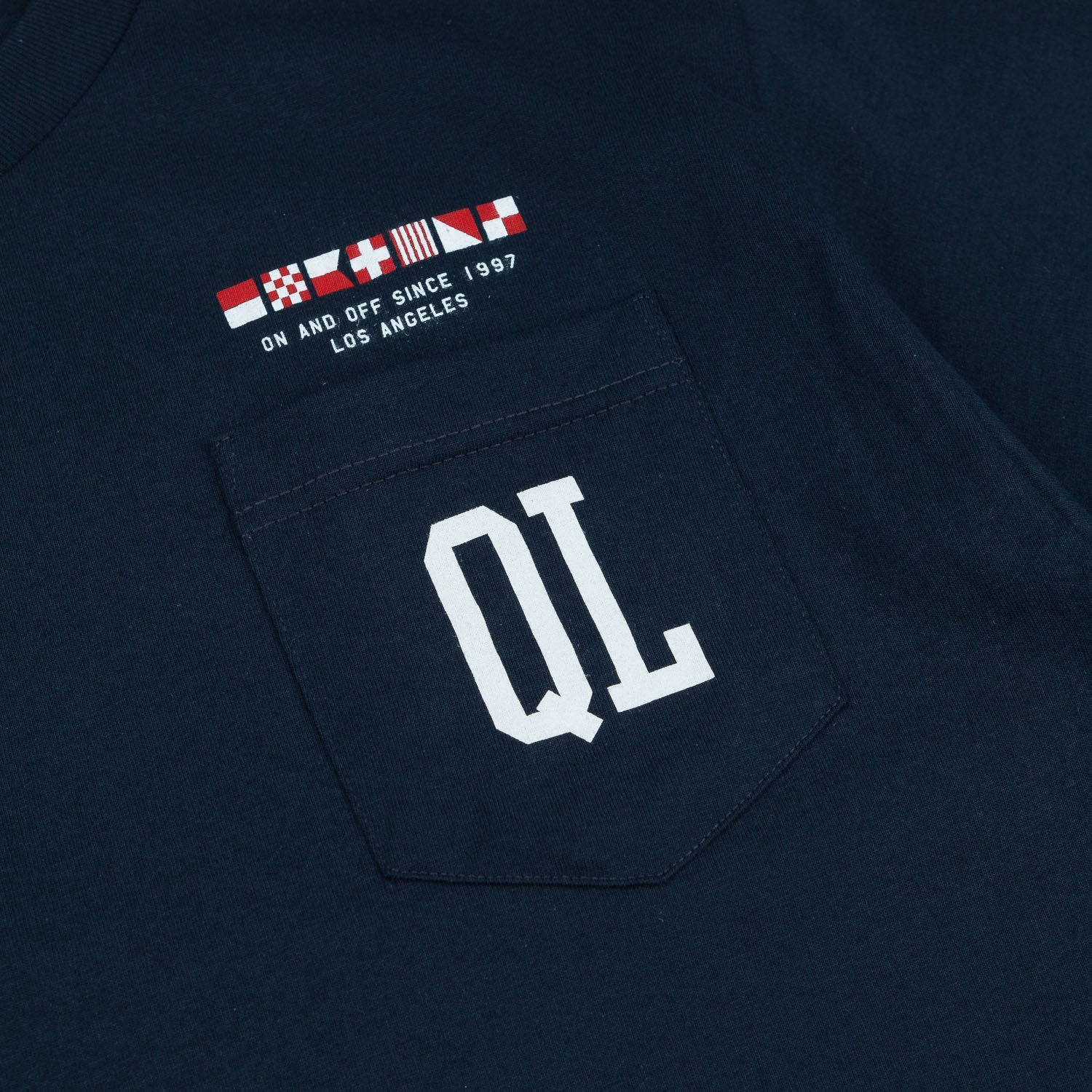 The Quiet Life Flagship Pocket T-Shirt - Navy