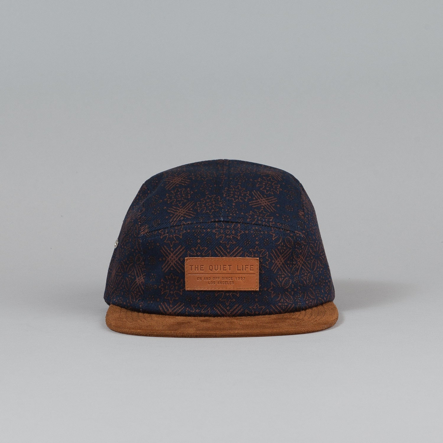 The Quiet Life Flake 5 Panel Cap Navy / Rust